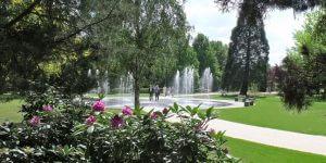 Fontänengarten im Kurpark Bad Soden