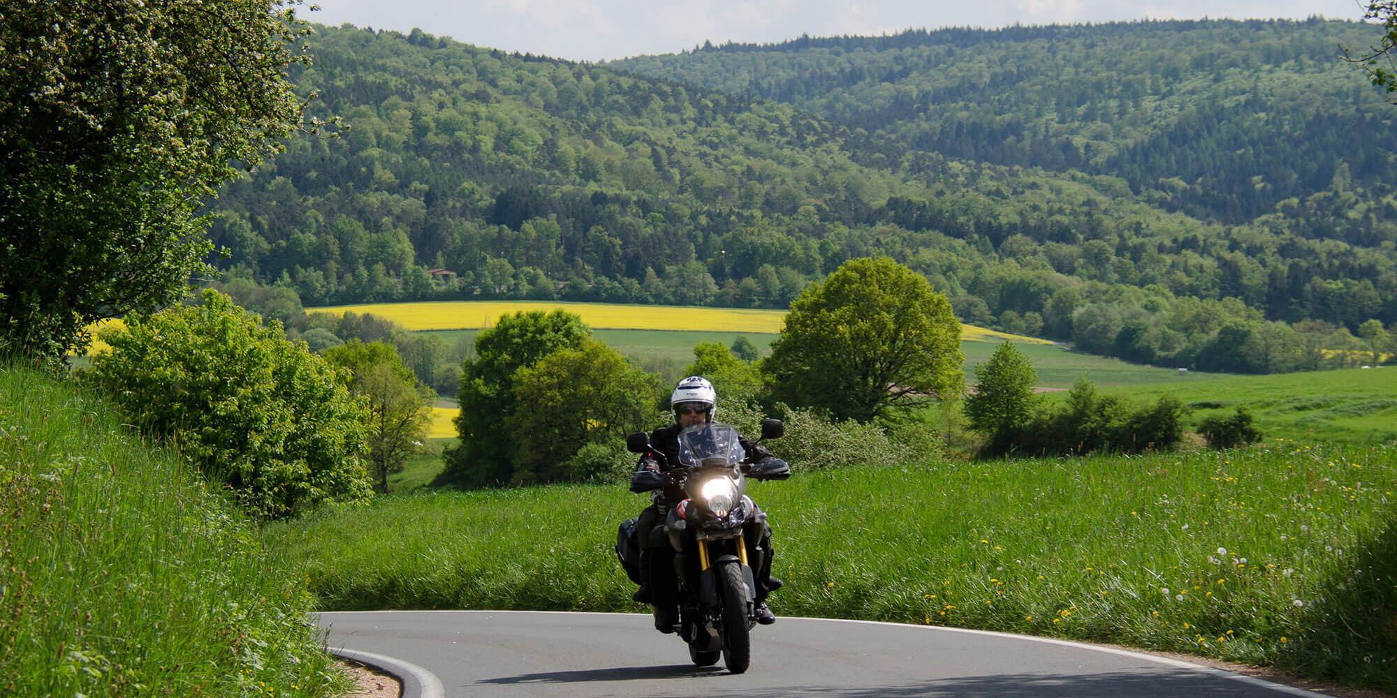 Motorrad im Spessart