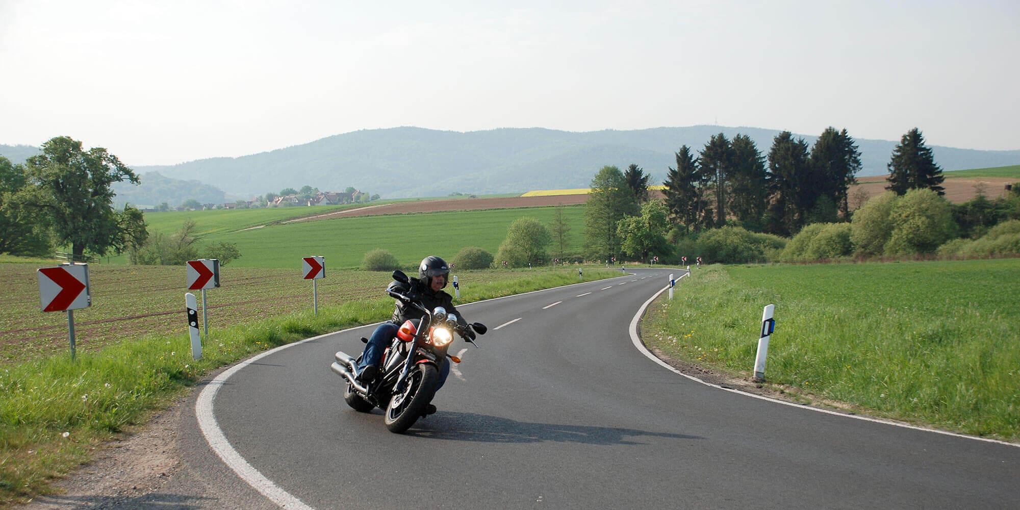Motorradfahren im Spessart
