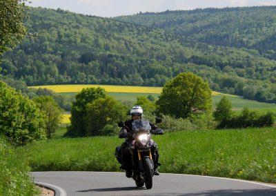 Biker in der Rhön