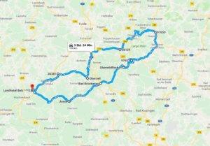 Motorradtour Rhön